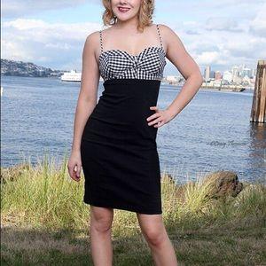 BROAD MINDED CLOTHING - Gingham Wiggle Dress